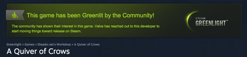A Quiver of Crows Greenlit on Steam on January 26, 2015